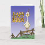 ❤️ Funny Spring Chicken Old Fart Birthday Card