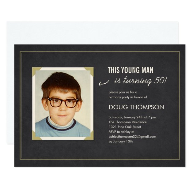 Funny Birthday Invitations With An Old Photo Zazzle