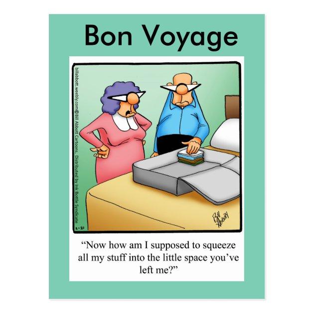 Funny Bon Voyage Humor Postcard Zazzle