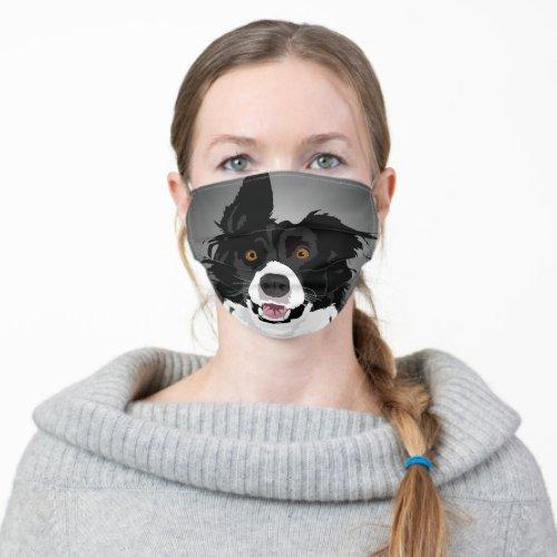 Funny Border Collie Dog Cloth Face Mask
