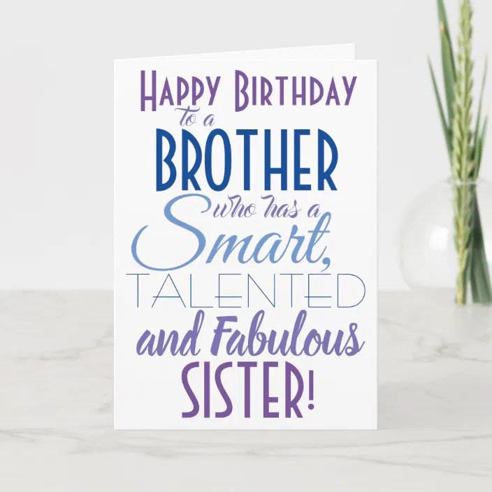 Funny Brother Sister Birthday Card Zazzle Com