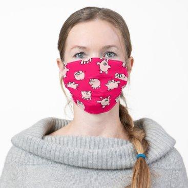 Funny Cartoon Pattern Pig Year Chinese Zodiac LFM Adult Cloth Face Mask