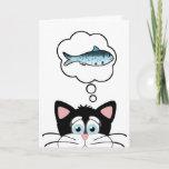 Dreams Come True Funny Cat Birthday Card