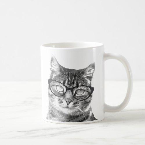 Funny cat mug | Kitten wearing nerdy glasses