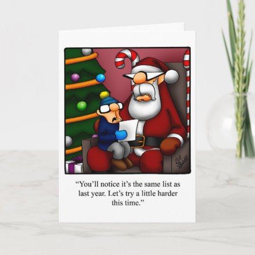 Funny Christmas Humor Greeting Card