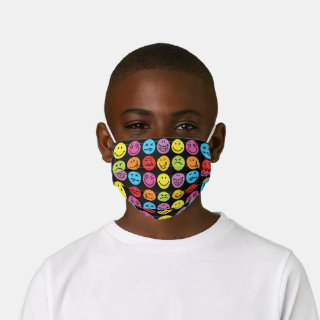 Funny Colorful Faces Kids' Cloth Face Mask