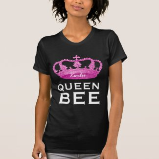 Funny Custom Name Crown Gift Queen Bee V4 T-shirt