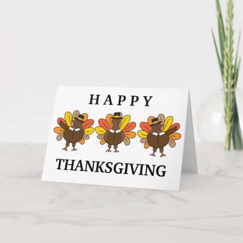 Funny Dabbing Turkeys Thanksgiving Holiday Card