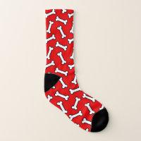 Funny Dog Bone Pattern Socks