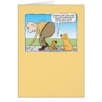 Funny Dog in Shade Birthday Card