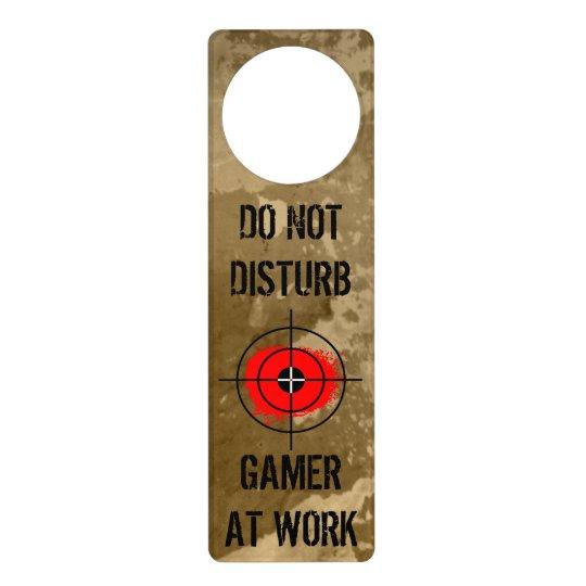 Funny Door Hanger For Gamers Do Not Disturb Zazzle