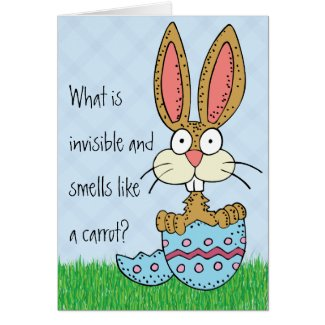 Funny Easter Bunny Joke Greeting Card