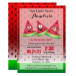 Funny Face Watermelon Kid's 00th Birthday Invitation