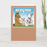 Funny Farm Animals Birthday Card