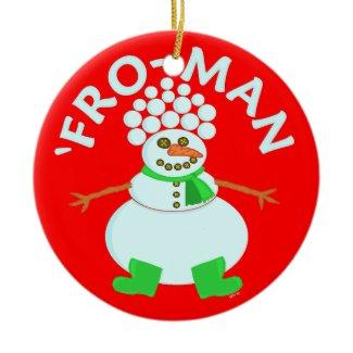 Funny 'Fro-Man Xmas Design
