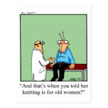 Funny Old Women Get Well Postcard