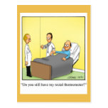 Funny Rectal Thermometer Get Well Postcard