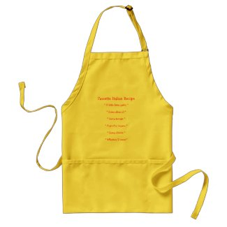 Funny Italian Food Apron With Recipe