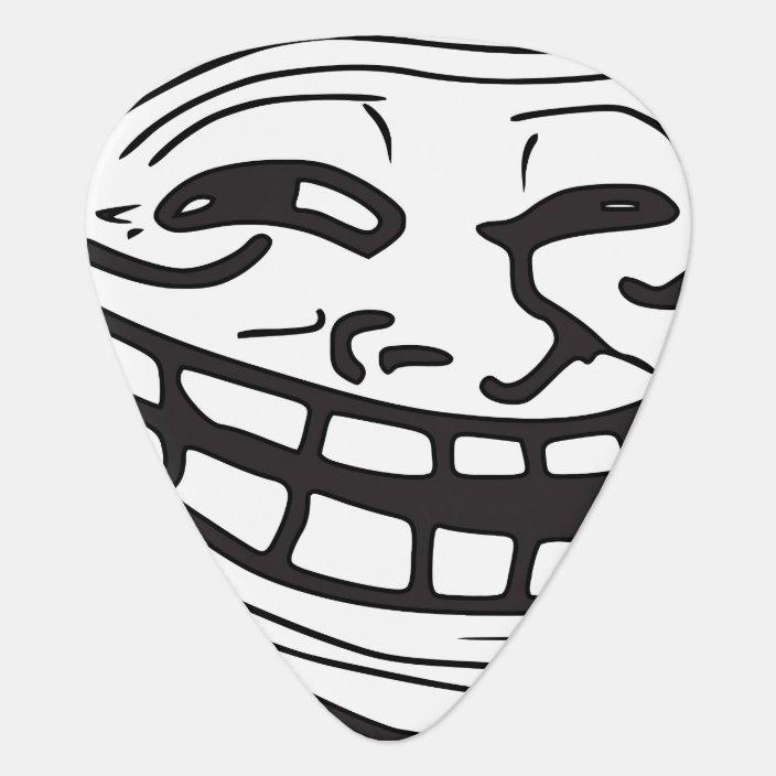 Funny Laughing Smiling Internet Troll Music Meme Guitar Pick