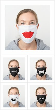 Funny Lips Mouths Bottom Cloth Face Masks