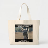 Funny llama, Friendship Quote on tote bag