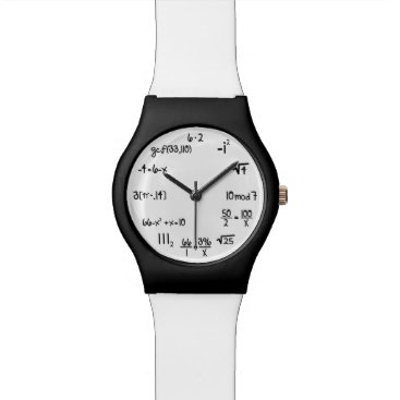 Funny Math Equation Geek Wristwatches