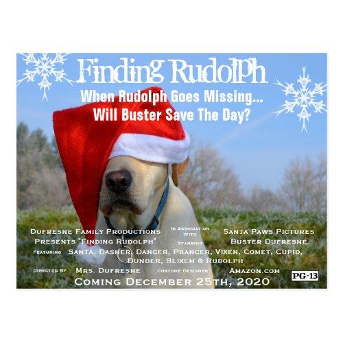 Funny Movie Parody Add Pets Photo Holiday Postcard