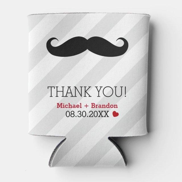 Funny Mustache Gay Wedding Favor