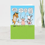 ❤️ Fun Party Animal Advice Birthday Card