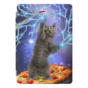 Funny Pizza Cat Rainbow Galaxy Space iPad Pro Cover