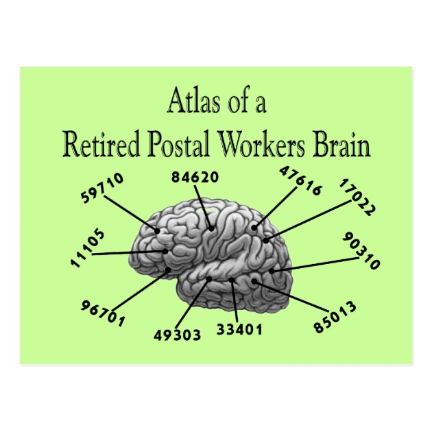 Funny Retired Postal Worker T Shirts And Gifts Postcard