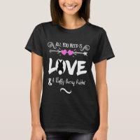 Funny Slogan Love Bunny Rabbits Theme Graphic T-Shirt
