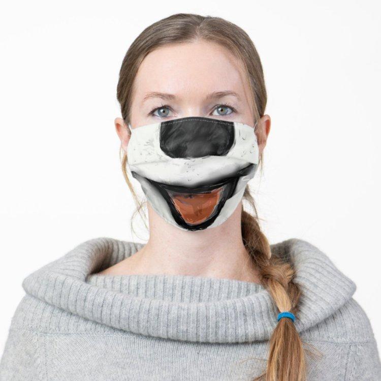 Funny Smiling Dog Cloth Face Mask