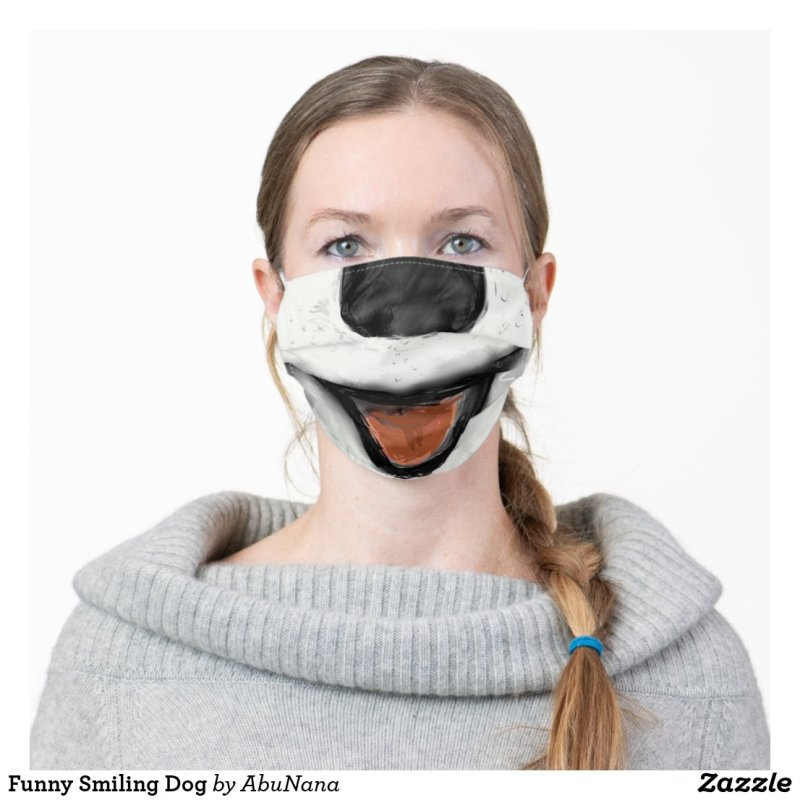 Funny Smiling Dog Cloth Face Mask