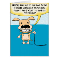 Funny Stinky Dog Birthday Card