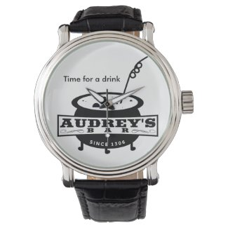 "Funny ""Time for a drink"" Wrist Watch"