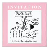 Funny Wedding Invitation with Dressmaker