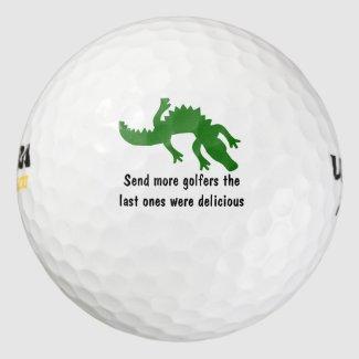 Funny Wild Gator Pack Of Golf Balls