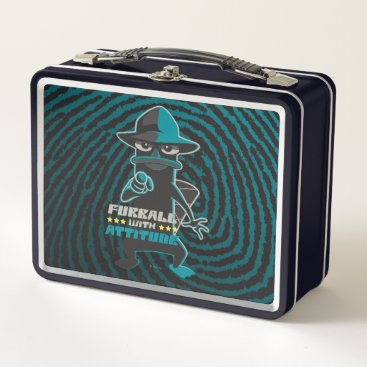 Furball With Attitude Metal Lunch Box
