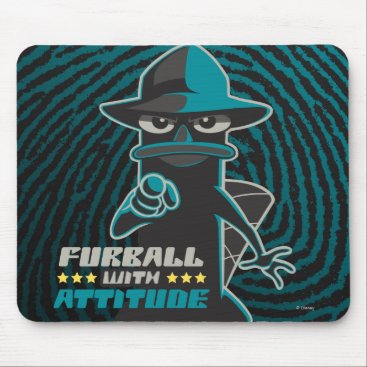 Furball With Attitude Mouse Pad