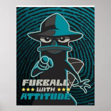 Furball With Attitude Poster