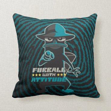 Furball With Attitude Throw Pillow