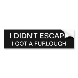 FURLOUGH BUMPER STICKERS