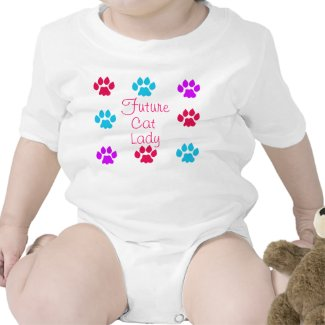 Future Cat Lady Baby Bodysuits