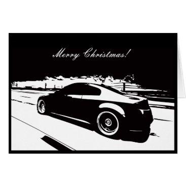 G35 Coupe Car themed Christmas Card
