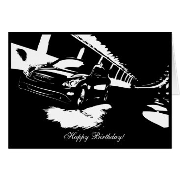 G37 Sedan Car themed Birthday Card