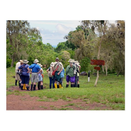 Galapagos Islands Tourists at Tortoise Sanctuary Postcard