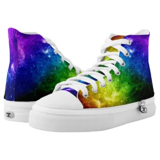 Galaxy Pride Rainbow LGBT Printed Shoes