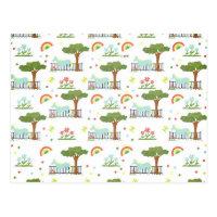 Garden Unicorn Pattern Postcard