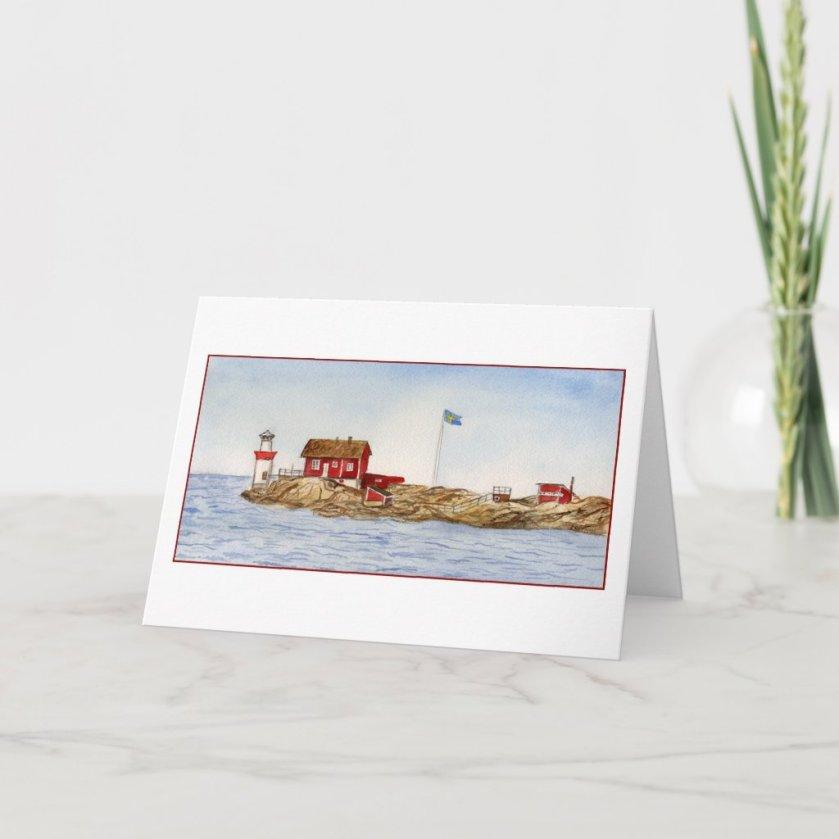 Gaveskar Lighthouse Greeting Card